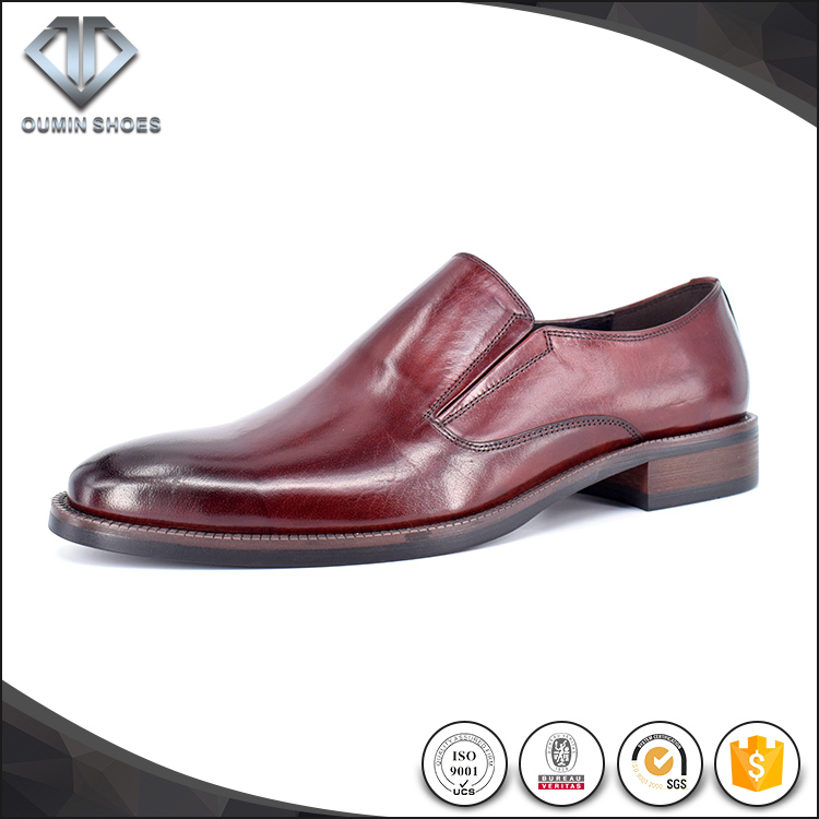 Hardwearing design Italian style leather derss shoes for men china supplier