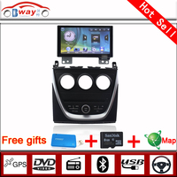Bway 2 din car video for 2015 Geely VISION GC7 car dvd gps 256 MB RAM with car Radio bluetooth,steering wheel