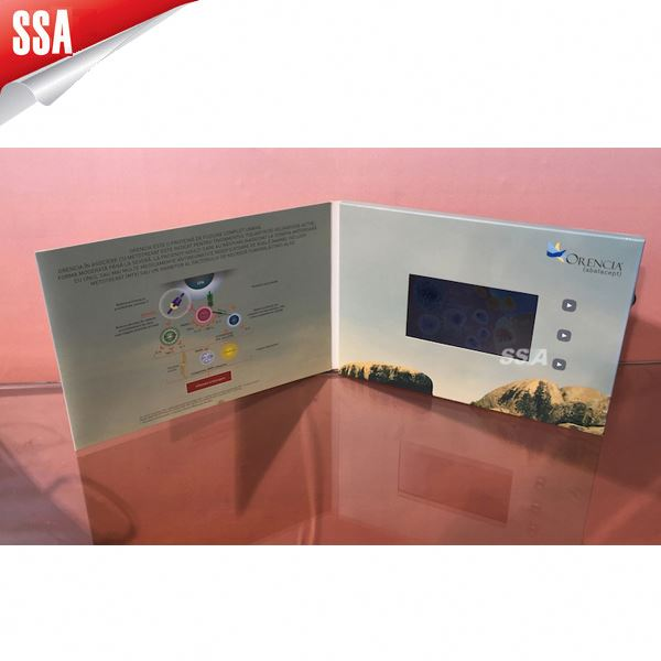 HOT selling Promotion Gift video card for pc,TFT video business card,LCD video greeting card