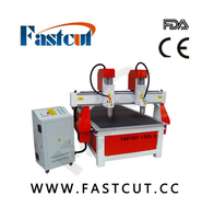 fastcut 1325-2 double color board lotus plates 3 4.5 6 9KW Italy HSD spindle cnc woodworking router