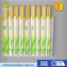 Eco-friendly No Pollution chinese chopstick spoon fork set with paper wrapped