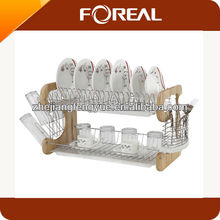 2012 new design stainless steel 2-tier dish rack