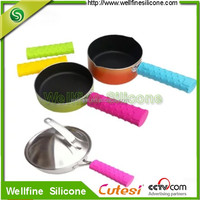 Silicone Pot Handle Sleeve, Protective Cover and Grip for Metal and Composite Pot and Pan Handles.