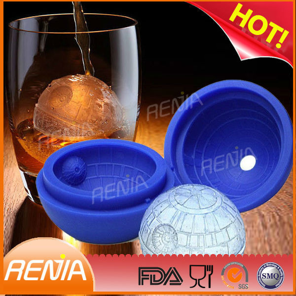 renjia Silicone shaped ice tray star ball wars ice cube trays
