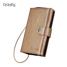 CTUNES Leather Zipper Wallet Flip Pouch Phone Case with Magnetic Detachable Back Card Holder for Apple iPhone X
