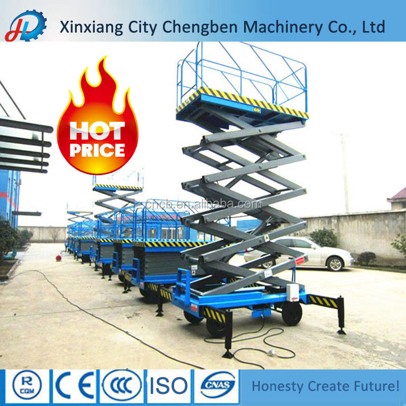 4x4 motorcycle hydraulic scissor lift with solid outriggers
