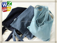 Cotton Polyester Denim Fabric tote bag, Special cotton canvas shopping bag