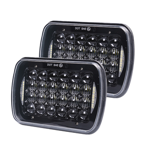 China auto parts 4x6 led headlight / 5x7 inch square led headlamp sealed beam for car offroad truck