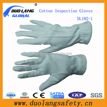 Hot Selling Etiquette Cotton Gloves Black Cotton Waiter Gloves