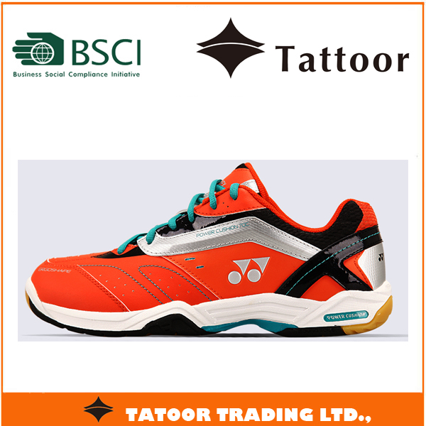 new MD rubber sole PU upper yonex badminton shoes