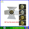 lighting equipment 36*3W white&warm white led par can lights with barn door par 64