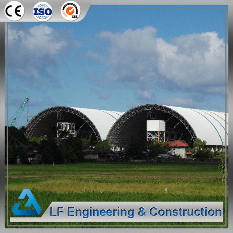 Prefabricated steel building arched dry coal shed