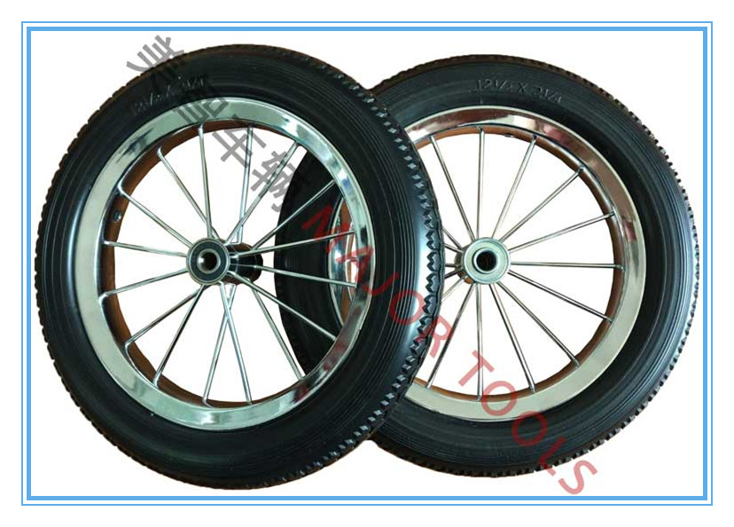 bicycle pu foam wheels 12 inch tyre 12 1/2 x 2 1/4 solid tire