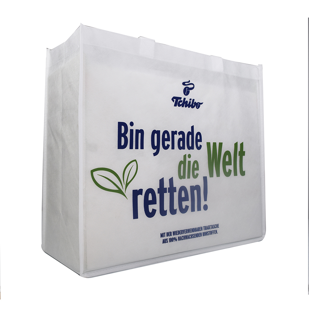 Handle type with gusset grocery bag made of biodegradable non woven fabric