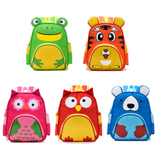 Wholesale trendy cute animal shaped kindergarten baby soft light nylon toddler zoo animal backpack for kids