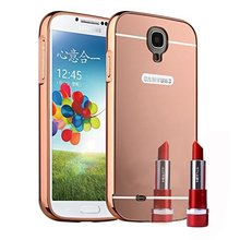 Luxury Mirror Acrylic PC Back Cover Case Ultra Slim Aluminum Metal Bumper Frame For Samsung Galaxy S4