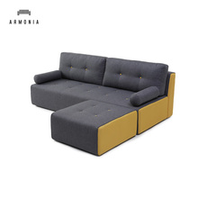 Modern design latest indoor home sofa set, L shaped lazy boy sofa bed