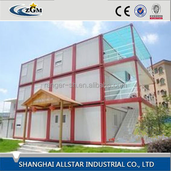 ZGM Steel structure prefabricated living shipping container house