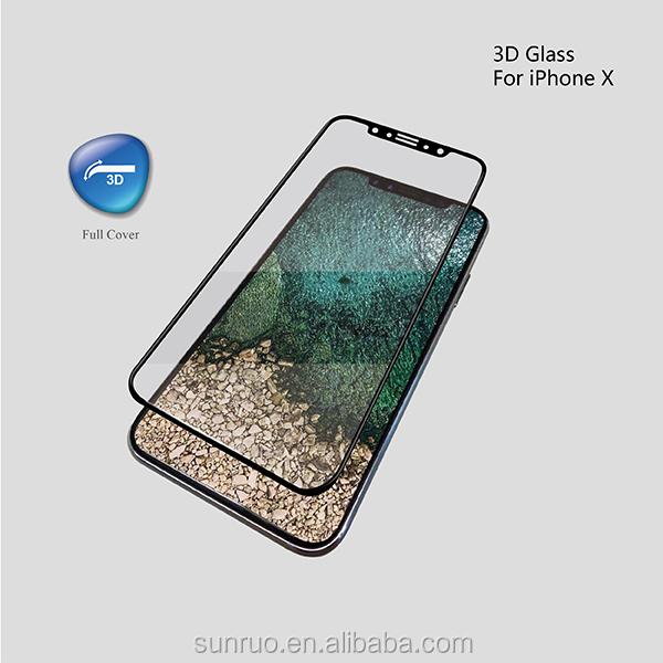 Premium 3D curved tempered glass screen protector for iPhone X/XS, for iPhone X/XS 3D screen protector/guard/film