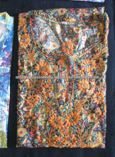 Fashionable Raw silk Tunic with multicolour embroidery