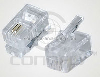 Hot sell 1.02mm 4p2c rj11 plug connector for telephone