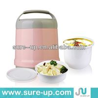 Plastic insulated food warmer container,picnic food warmer