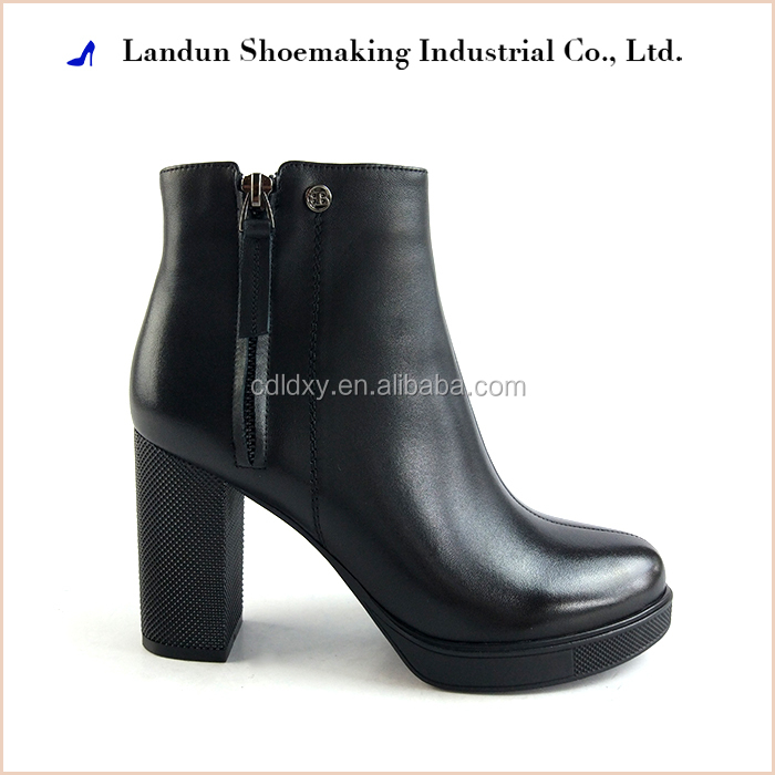 women genuine leather boot dress shoes