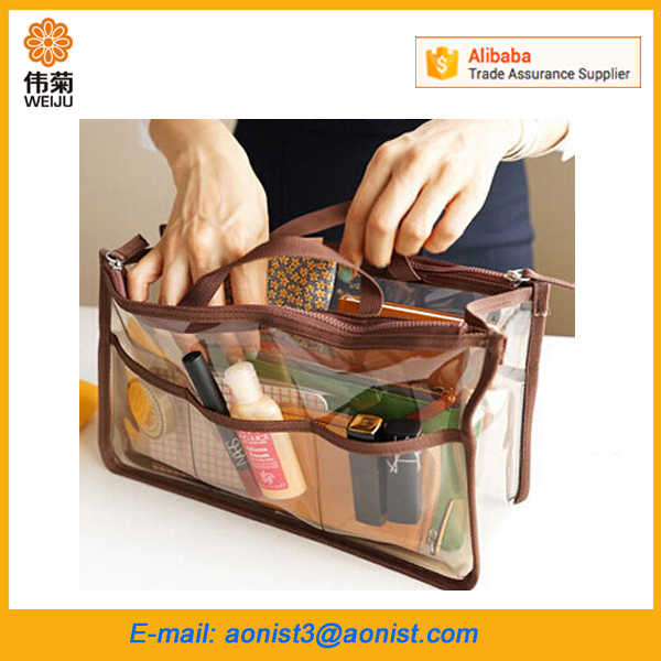 Portable PVC Travel Clear Toiletry Transparent Cosmetic Makeup organizer Bag