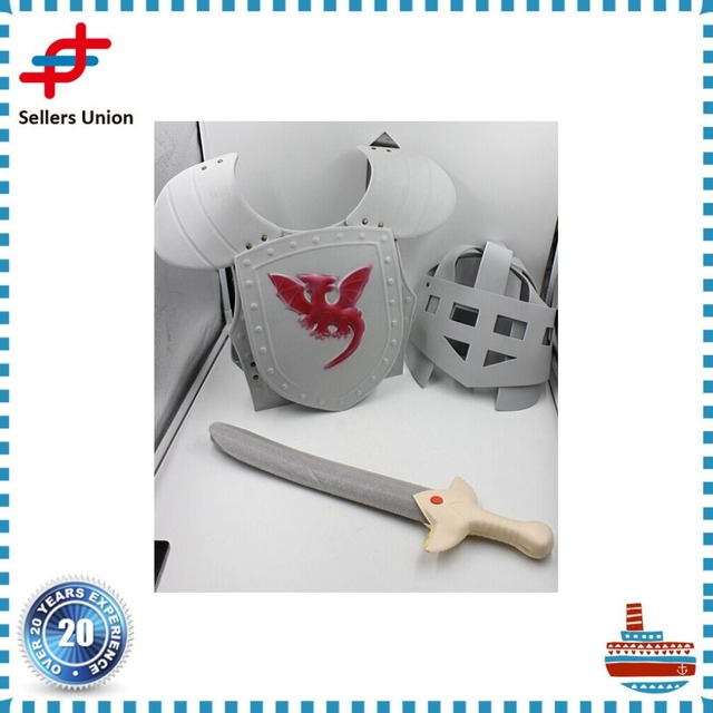Medieval Knights EVA Sword and helmet Toy with Dress-up Costume Armor
