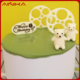 Cute 3D bear shape happy birthday cake decorating silicone fondant jelly chocolate molds