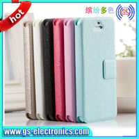 Cheap price PU stand leather case for iphone 4 4s flip cover case for iphone 4 4s
