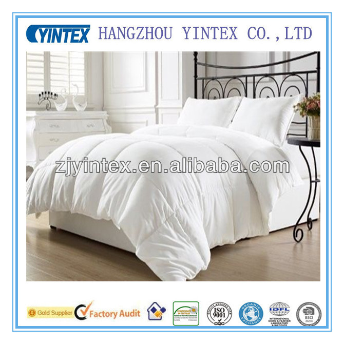 economic hotel microfiber and polyfiber duvet