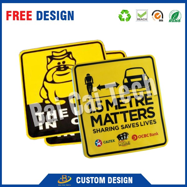 3D Colorful Printing Strong Glue Epoxy Resin Doming Sample Car Sticker Design
