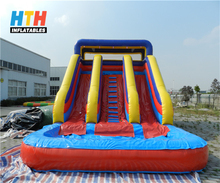 bounce round inflatable water slide
