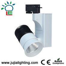 TUV CE RoHS listed COB 12W 35W 45W LED Track lighting with white or black housing