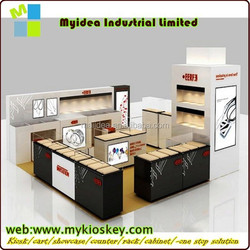 Silver display stands /kiosk /rack/shelf /counter/cabinet of jewelery display for mall