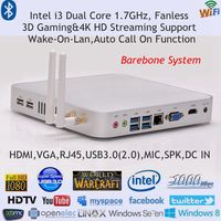 Barebone HTPC 4K HD Kodi Haswell SoC Design Intel Core i3 4010U Mini PC Win Industrial Computer 3 Years Warranty DHL Free