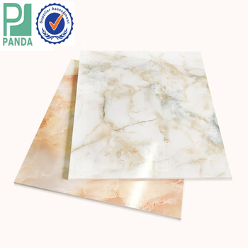 New Material PVC Ceiling And Wall Panels Using Faux Marble Board by L/C Payment
