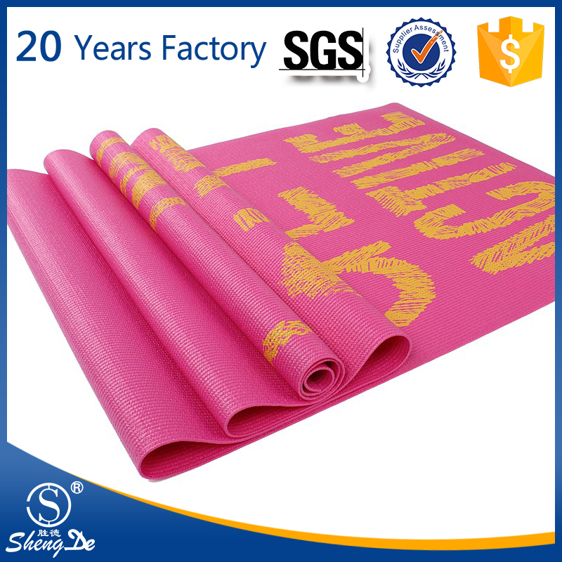 Eco Friendly Exercise Embossed Kids Yoga Mat