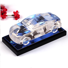 3D Color Famous Crystal Glass Car Model For Gifts & Room Decoration