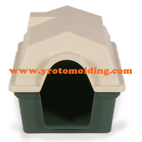 Plastic inside and outside dog kennel plastic pet house plastic aminal house