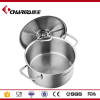 2016 Charms High quality cookware stainless steel soup cooking pot/sauce pot 18cm