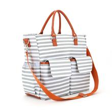 Canvas tote baby bags with diaper changing mat for mummy