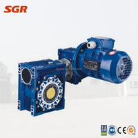 worm gearbox assembly with motor