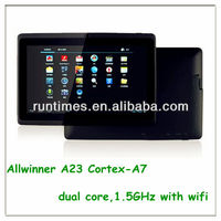 2013 the New 7 inch Allwinner A23 dual core tablet 512M/4G Android WIFI tablet pc