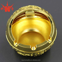 Hot sale fashion custom personalized gold metal ashtray