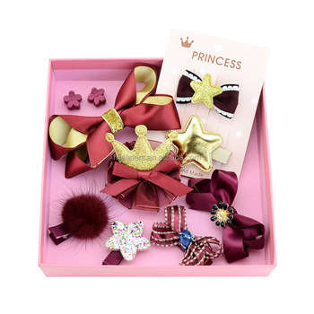 Christmas Girl Gift Set Baby Hair Bow Set