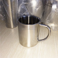 Wholesale logo customized 250ml stainless steel coffee cup with handle