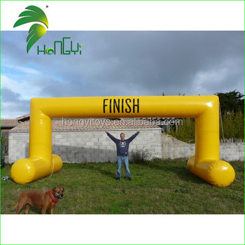 Giant Durable Waterproof Inflatable Modern Gate Design / PVC Promotional Finish Line Main Entrance Arch Gate Design