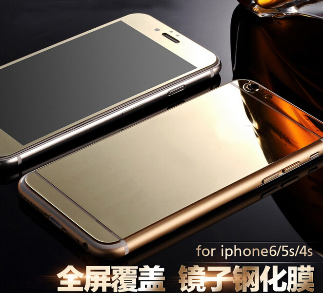 Luxurious Electroplating colorful mirror effect tempered glass screen protector for iPhone series